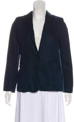 Frame Notch-Lapel Long Sleeve Blazer
