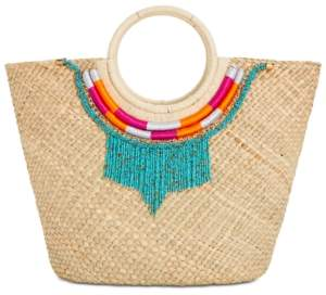 INC International Concepts I.n.c. Straw Necklace Tote, Created for Macy's