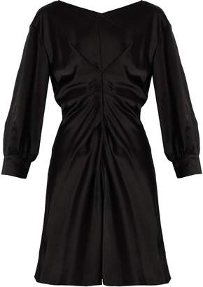 Isabel Marant Rad pleated-front satin dress