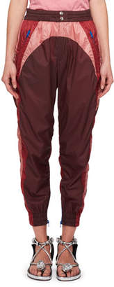 Isabel Marant Raruso Colorblock Nylon Parachute Jogger Pants