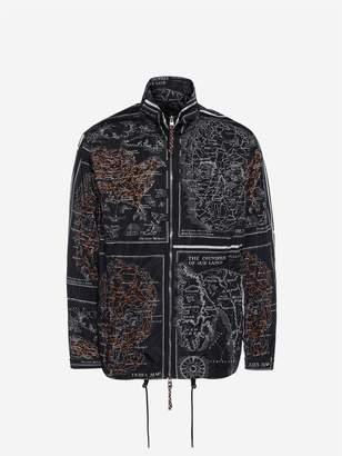 Alexander McQueen Skull Map Blouson Jacket
