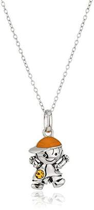 Hallmark Jewelry November Birthstone Sterling Crystal Boy Pendant Necklace