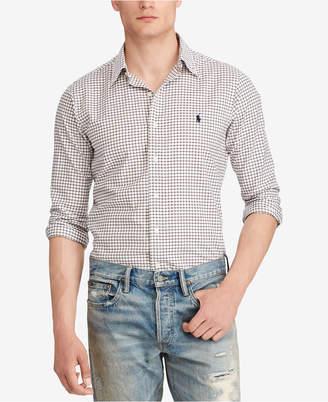 Polo Ralph Lauren Men Classic-Fit Checked Twill Shirt