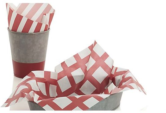 Crate & Barrel Set of 24 Fry Cup Liners