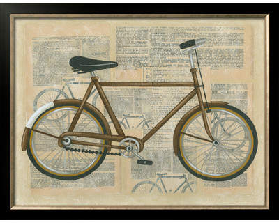 Wayfair 'Tour Bicycle I' by Chariklia Zarris Framed Graphic Art