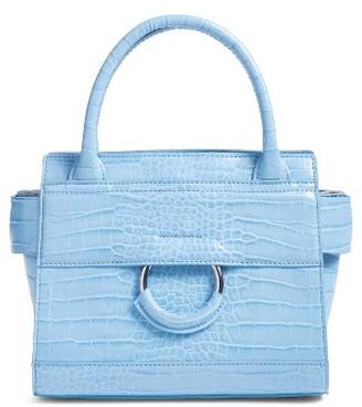 Sam Edelman Mini Chiara Faux Leather Satchel - Blue $148 thestylecure.com