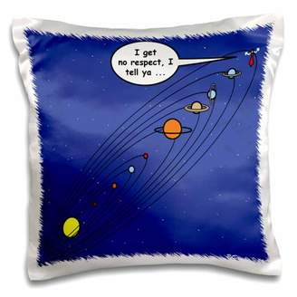 3dRose Pluto Loses Planet Status - Pillow Case, 16 by 16-inch