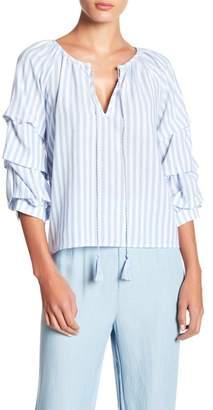 BB Dakota Stripe Woven Blouse