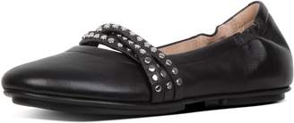 FitFlop Allegro Rockstud Strappy Leather Ballet Flats