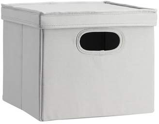Pottery Barn Teen Set of 2 Closet Sweater Bins With Lid, Solid Gray
