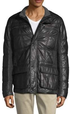 Bugatti Quilted Leather Jacket