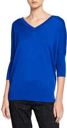 Elie Tahari Liola V-Neck 3/4-Sleeve Sweater
