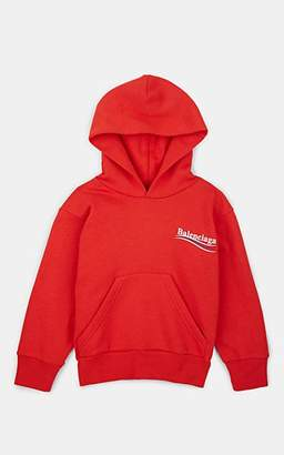 Balenciaga Kids' Logo Cotton-Blend Fleece Hoodie - Red