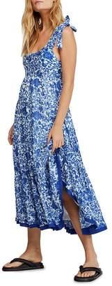 Free People Kika's Tiered Floral Midi Dress