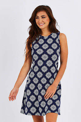 Hatley NEW Womens Short Dresses Sarah Dress NavyDahlia