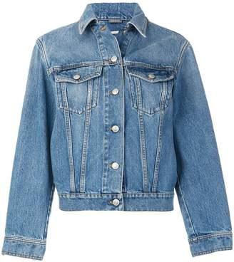 Alexander McQueen printed back denim jacket