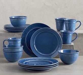 Pottery Barn Cambria 16-Piece Dinnerware Set - Ocean Blue