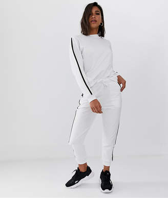 97c54485e6fd Asos Design DESIGN tracksuit cute sweat   basic jogger with tie with  contrast binding