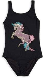 Pilyq Little Girl's& Girl's Unicorn One-Piece Swimsuit