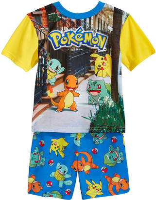 Pokemon 2-Pc. Pikachu & Friends Pajama Set, Little Boys & Big Boys