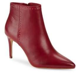 Donna Karan Lizzy Leather Stiletto Ankle Booties