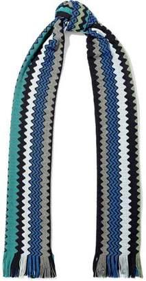 Missoni Fringed Wool-Blend Crochet-Knit Scarf