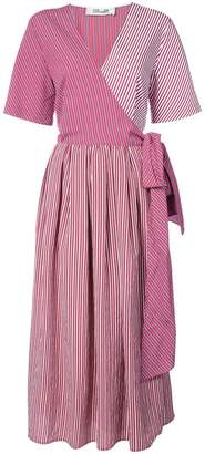 Diane von Furstenberg striped wrap dress