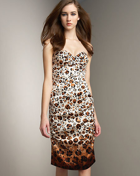 Nicole Miller Animal-Print Dress
