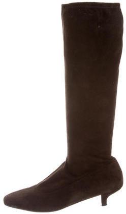 pradaPrada Suede Knee-High Boots