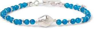 Isaia San Gennaro Silver-Tone and Agate Bracelet