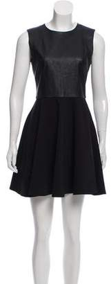 Diane von Furstenberg Jeannie Two Leather-Paneled Dress