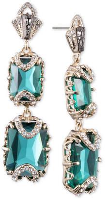 Jenny Packham Gold-Tone Pave & Stone Double Drop Earrings