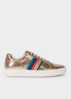 Paul Smith Women's Metallic Gold Leather 'Lapin' Trainers