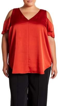 Rachel Roy Cold Shoulder Top (Plus Size)