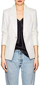 Helmut Lang Women's Canvas One-Button Blazer-White