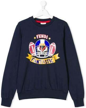 Fendi Kids Teen football sweatshirt