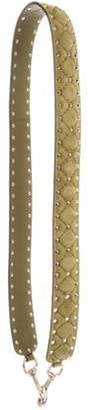 Valentino Suede Studded Guitar Strap Green Suede Studded Guitar Strap