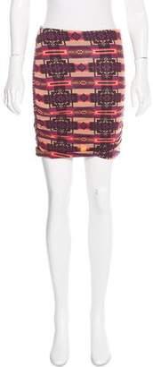Torn By Ronny Kobo Printed Mini Skirt