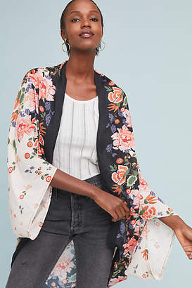 Anthropologie Gardener Floral Kimono
