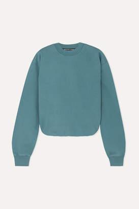 Alexander Wang Cotton-jersey Sweater - Teal