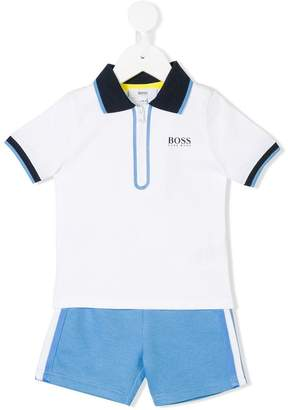 Boss Kids polo shirt & shorts set