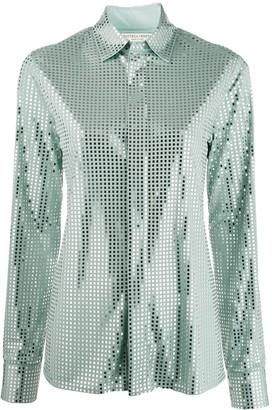 Bottega Veneta mirror sequin detail shirt