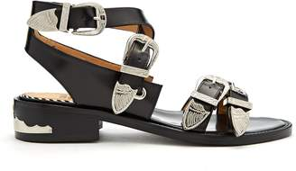 Toga Cross-strap buckle leather sandals