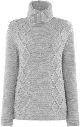 Barbour Court Chunky knit Roll Collar Jumper