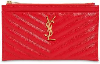 Saint Laurent Small Quilted Leather Clutch