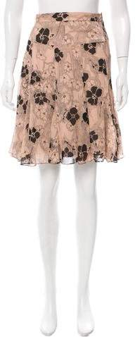 Marc by Marc Jacobs Floral Silk Skirt