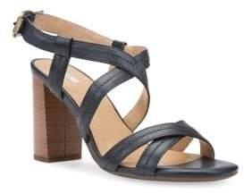 Geox Audalies Leather Slingback Sandals