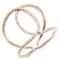 Ef Collection Diamond Infinity and 14K Rose Gold Ring