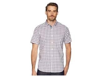 Nautica Short Sleeve Plaid Poplin Woven Shirt