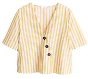 MANGO Buttoned cotton shirt